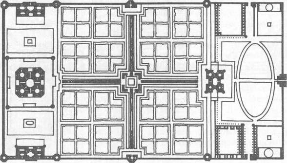 План гробницы Тадж-Махал с