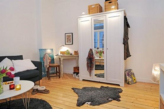 маленькие квартиры-студии интерьер.