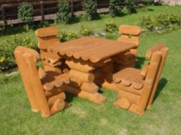 Садовая мебель стол и стулья (кресла) из брёвен (фото), купить мебель для сада и дачи